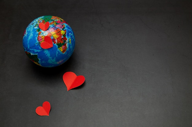 Planet of love  concept of valentine's day