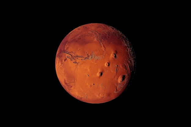 Планета меркурий на черном фоне элементы этого изображения предоставлены наса.
