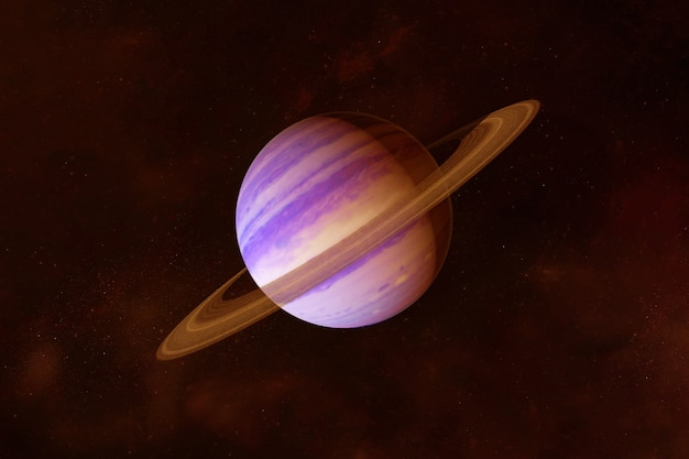 Planet saturn in bright colors on a dark backgroundelements of this image were furnished by nasa
