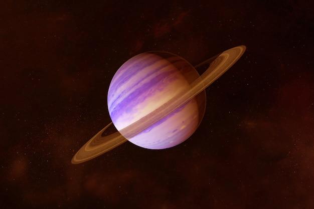 暗い背景に明るい色の惑星土星この画像の要素はnasaによって提供されました
