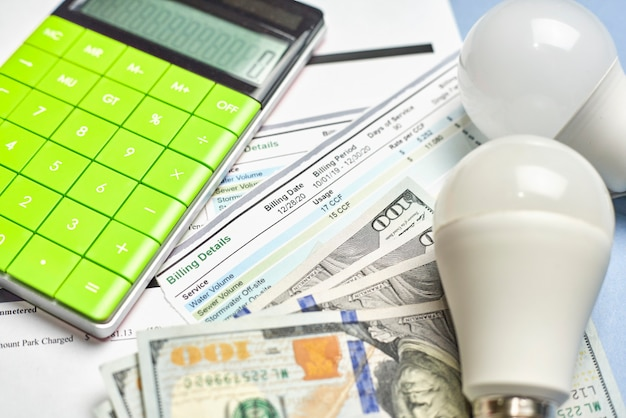 1か月の予算での光熱費の計画