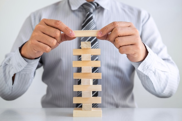 Planning risk and strategy in business concept