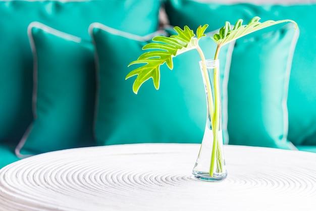 식물 밝은 꽃병 신선한 현대
