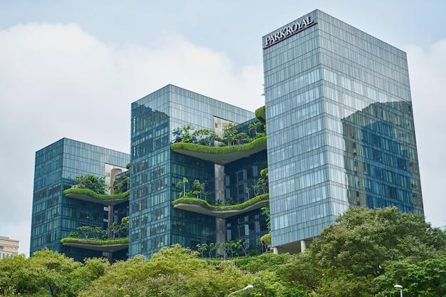 Plant green city amazing skyscraper