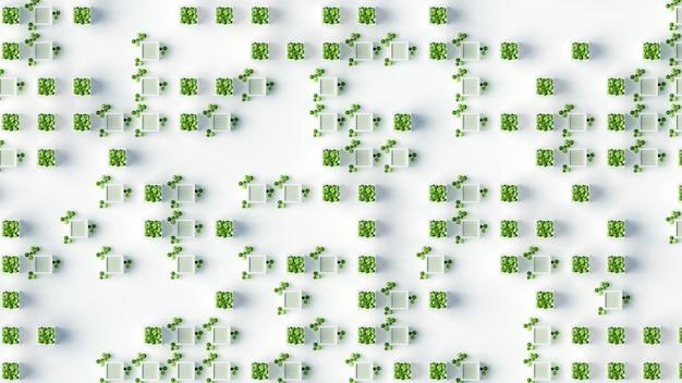 植物の緑の概念。 3dイラスト、3dレンダリング。