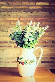 식물 자연 신선한 꽃병 색