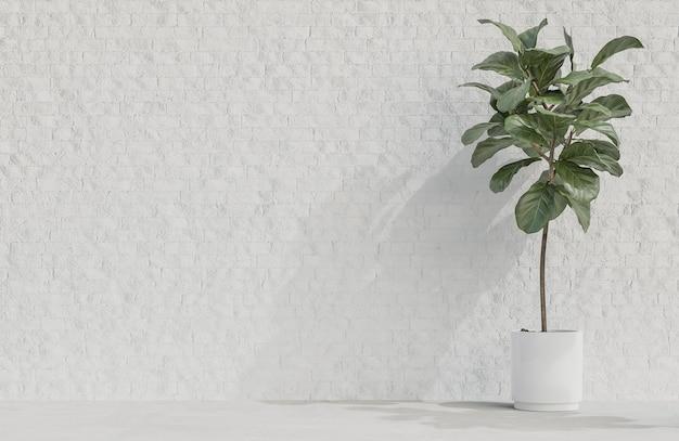 흰색 벽돌 벽 배경 미니멀 스타일에 공장