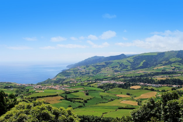 Plantation in porto formoso on the north coast of the island of