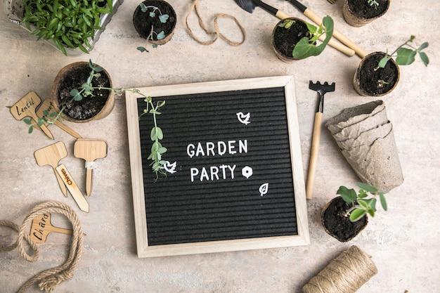 生分解性紙の環境にやさしい植木鉢に種を蒔く