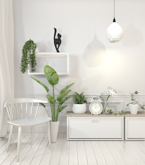 Plants on shelf design wall minimal design.