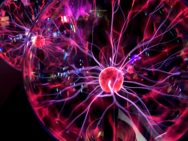 A plasma ball image of electric plasma background