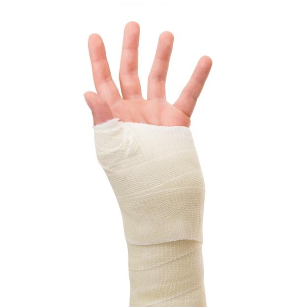 Plaster arm on white