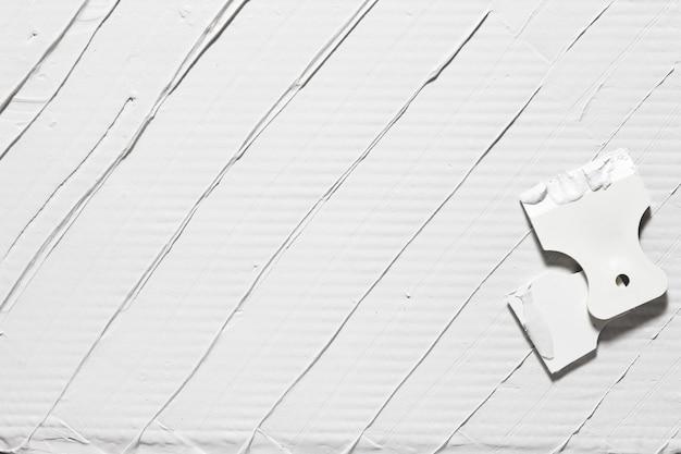 석고 배경 흰색 주걱 수리 건축 자재 여유 공간 수리 디자인 컨셉