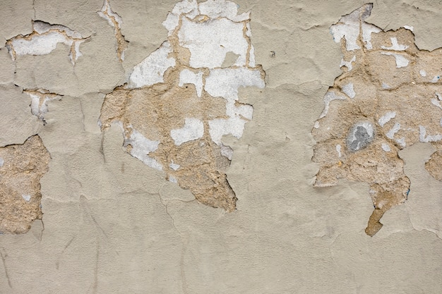 Plaster peeling on rough surface