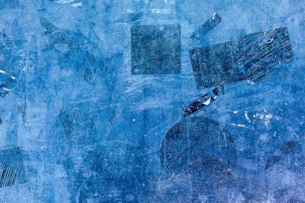 Plaster stickers wall street old paint background blue pattern black dark obscure vintage grunge