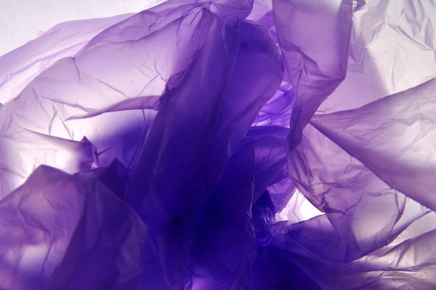 Plastic bag. abstract art background. watercolor purple gradient background texture.