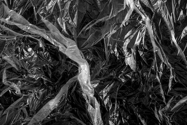 ビニール袋のテクスチャ背景、プラスチックフィルムの背景