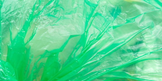 Plastic bag with trash. texture in wind