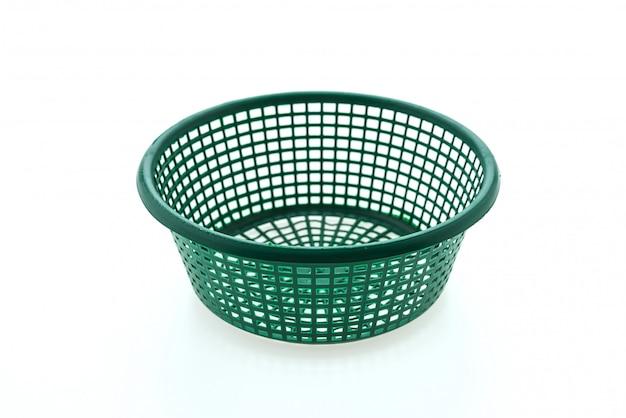 Plastic basket isolated