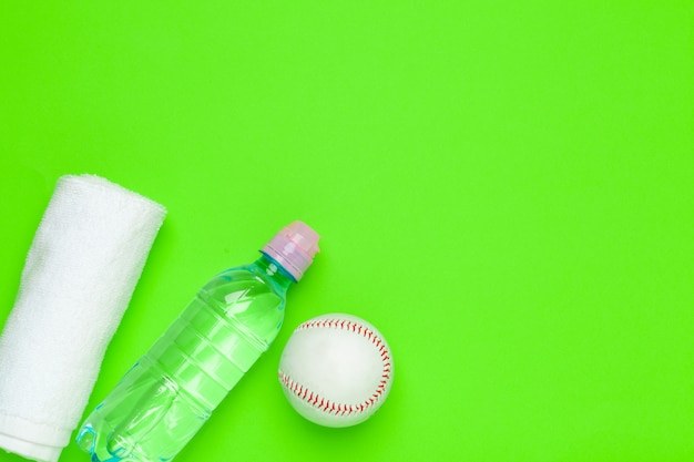 Plastic bottle of drinking water for sport background