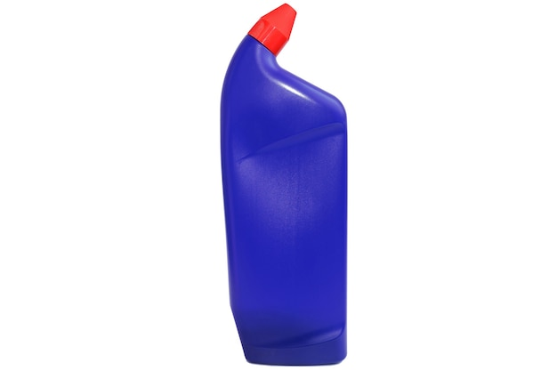 Plastic bottle for liquid products isolated