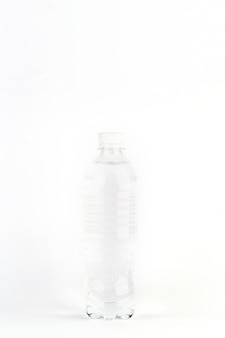 Plastic bottle with clear water