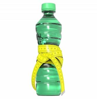 Пластиковая бутылка с метром, диета
