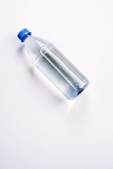 Plastic bottle with a sparkle of water