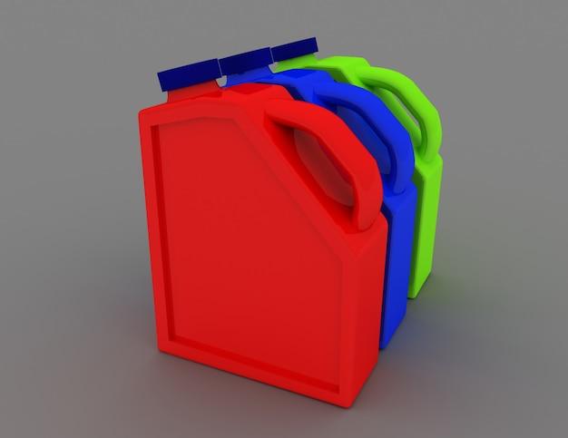 플라스틱 용기 모터 오일. 3d 렌더링 된 그림