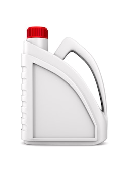空白のプラスチックキャニスターモーターオイル