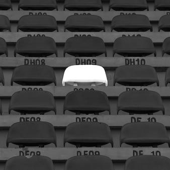 Plastic chairs at the stadium