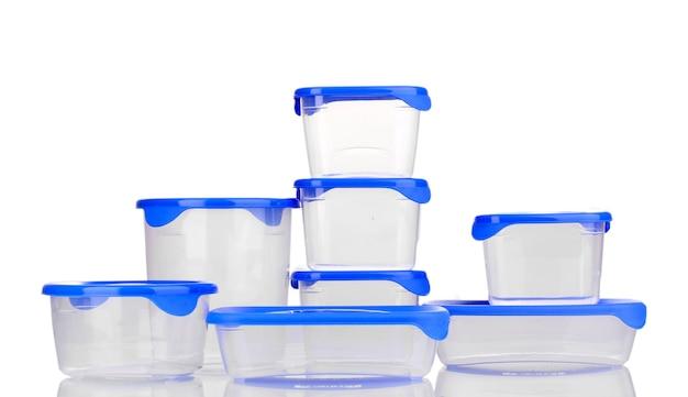 白で隔離食品用プラスチック容器