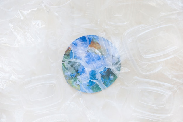 Plastic containers and paper earth