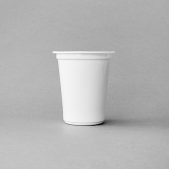 Plastic cup of dairy