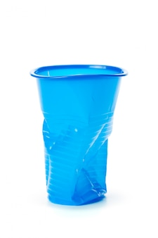 Plastic cups isolated on white