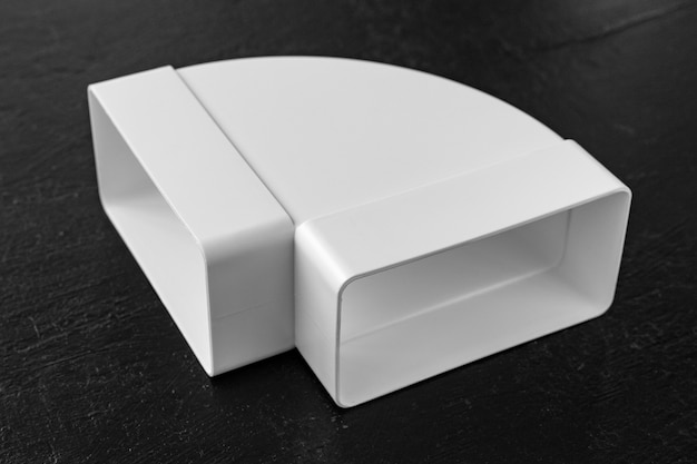 환기용 덕트 또는 후드 조립용 플라스틱 엘보 직각 부품