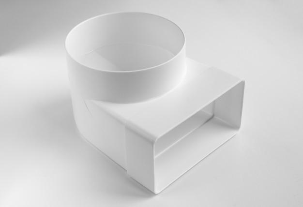 평면 및 원형 채널용 플라스틱 엘보 조립 환기용 부품