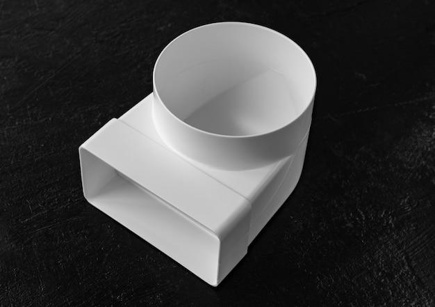 평면 및 원형 덕트용 플라스틱 엘보 조립 환기용 부품