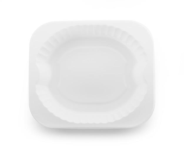 白のプラスチック製の空のボウル