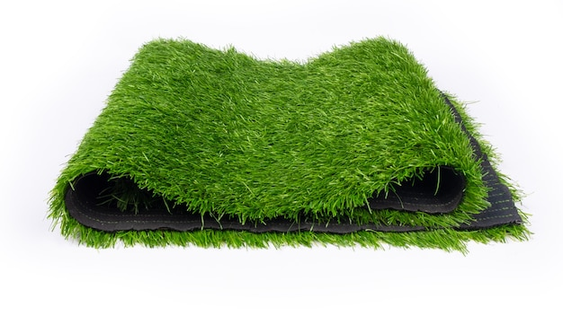 Plastic grass, artificial turf for sports grounds.