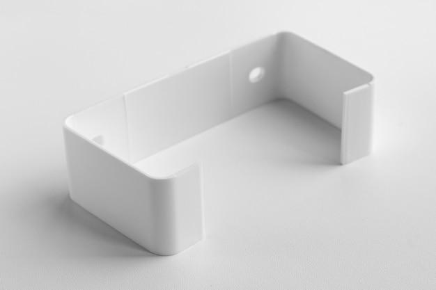 환기 조립을 위한 흰색 배경 부분에 직접 톤용 플라스틱 홀더