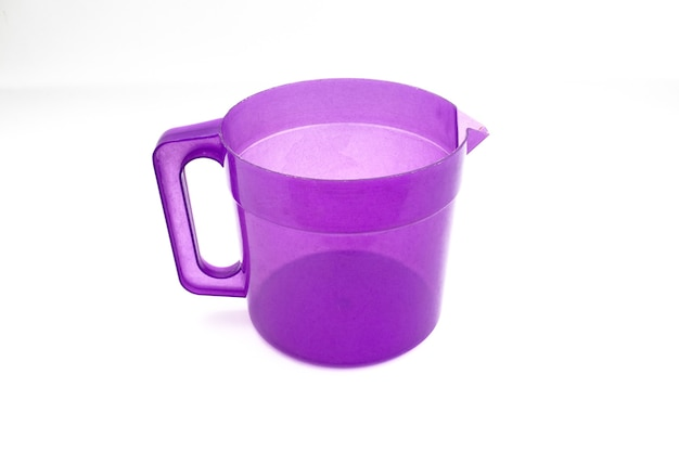 Plastic kettle isolated on a white background