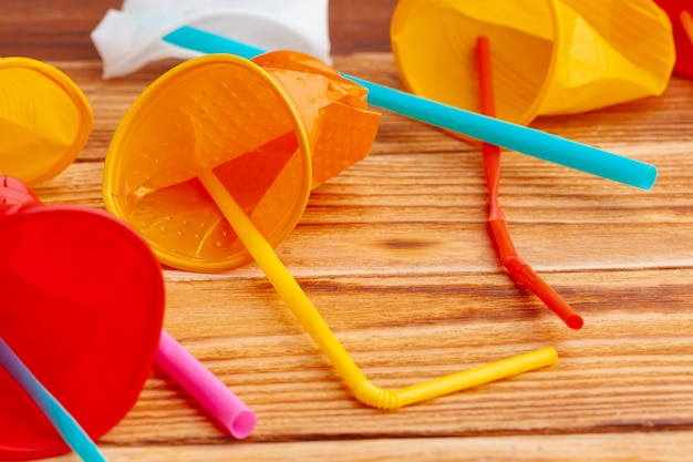 Plastic objects,  recycle garbage