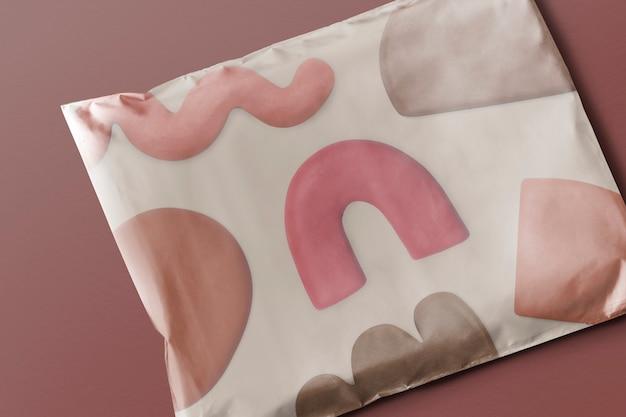 Sacchetto per pacchi in plastica con simpatica confezione del prodotto con motivo in argilla