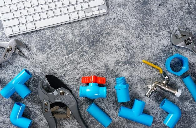 Пластиковые трубы для водопровода инструмент для резки труб водопроводный кран клавиатура смартфона