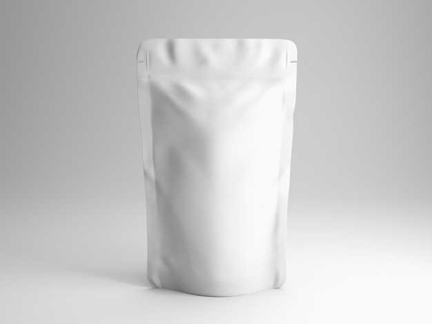 Plastic pouch mockup