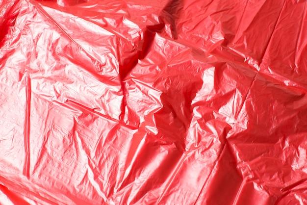 プラスチックの赤い背景。上面図。