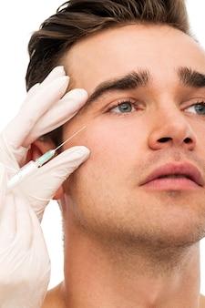Plastic surgery. attractive, handsome man