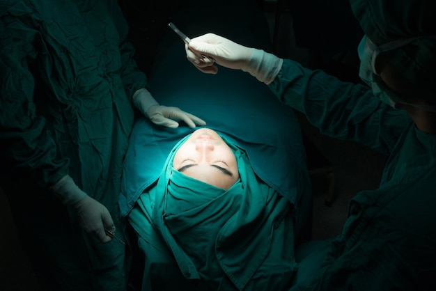 Plastic surgery wrinkle reduction.