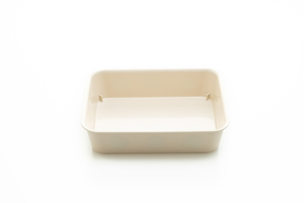 Plastic tray or plastic box isolated